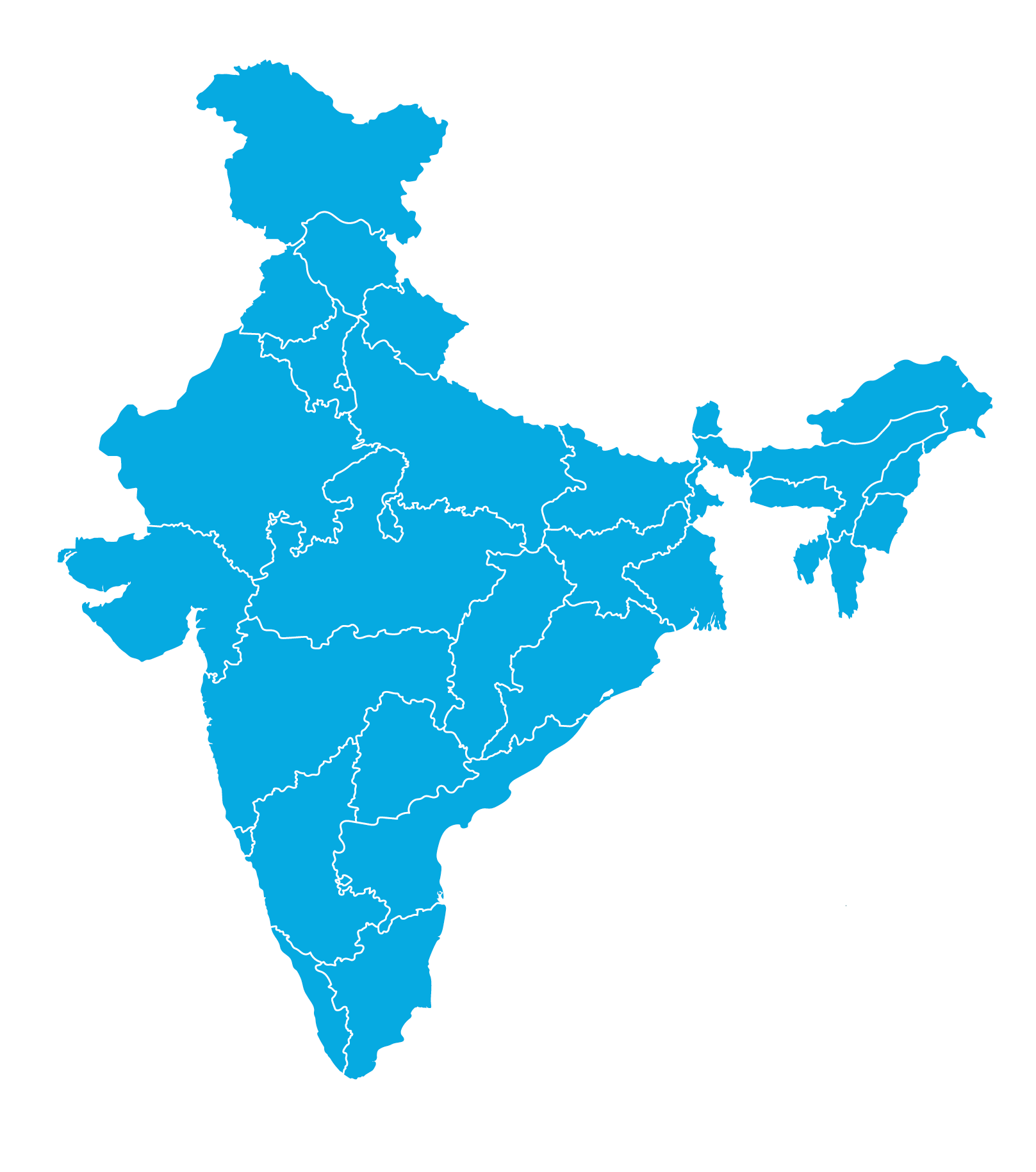 India_Map_Blue